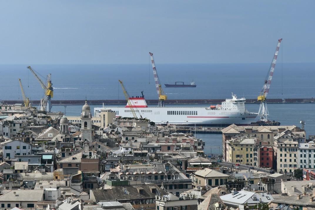 Port comercial del Port Antic de Gènova