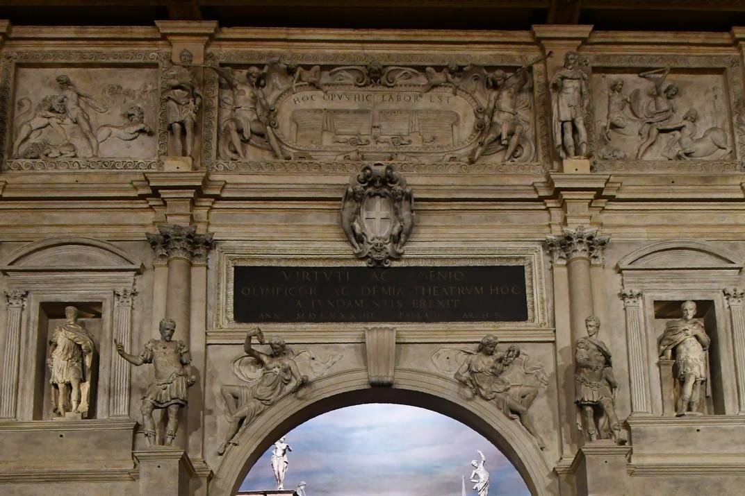Porta Règia de l'escenari del Teatre Olímpic de Vicenza