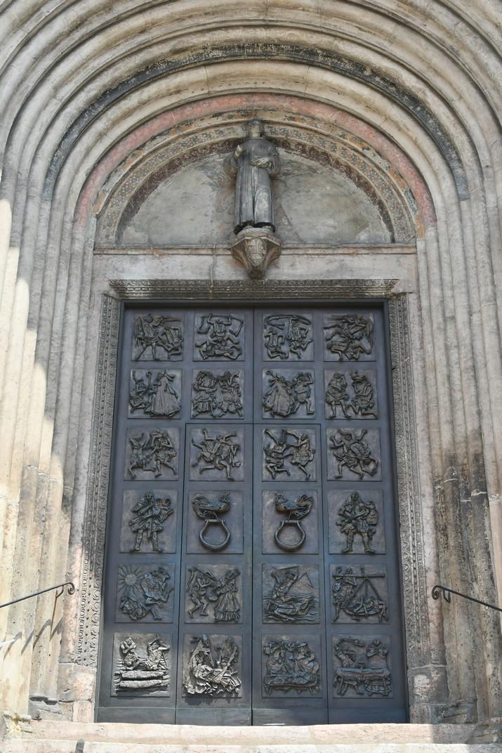 Pòrtic central de l'església de Sant Fermo Major de Verona
