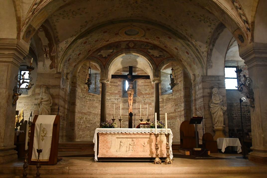 Presbiteri de l'església inferior de Sant Fermo Major de Verona