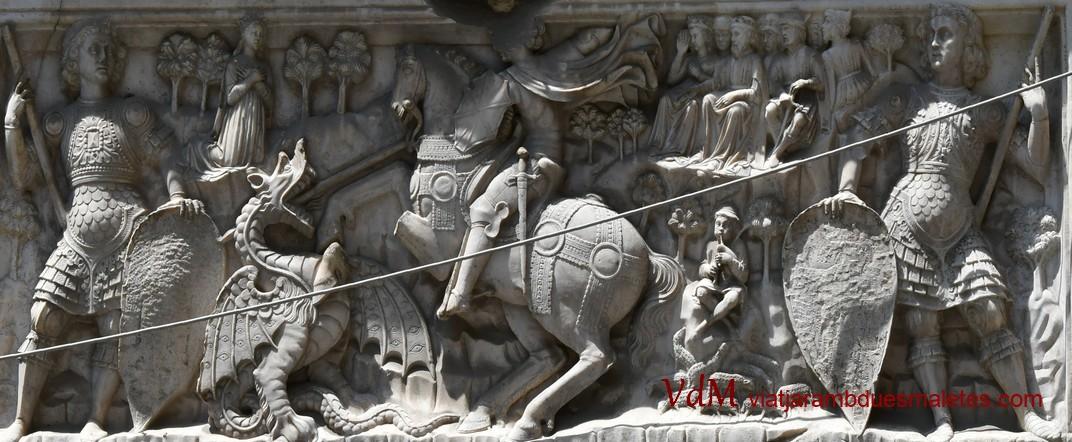 Representació de Sant Jordi del palau de Giorgio Doria de Gènova