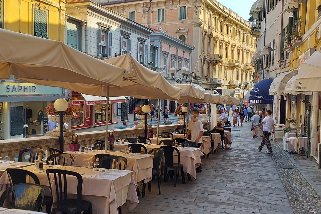 Restaurants del barri de la Catedral de San Siro de Sanremo