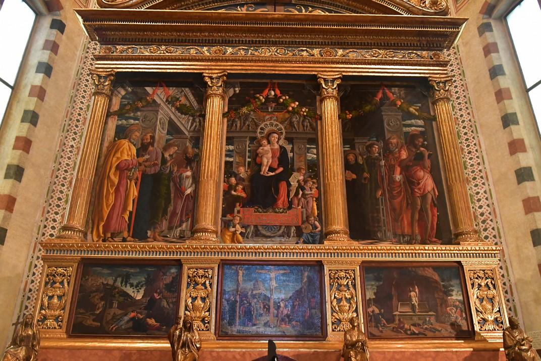 Retaule de la capella major de la Basílica de Sant Zenó de Verona