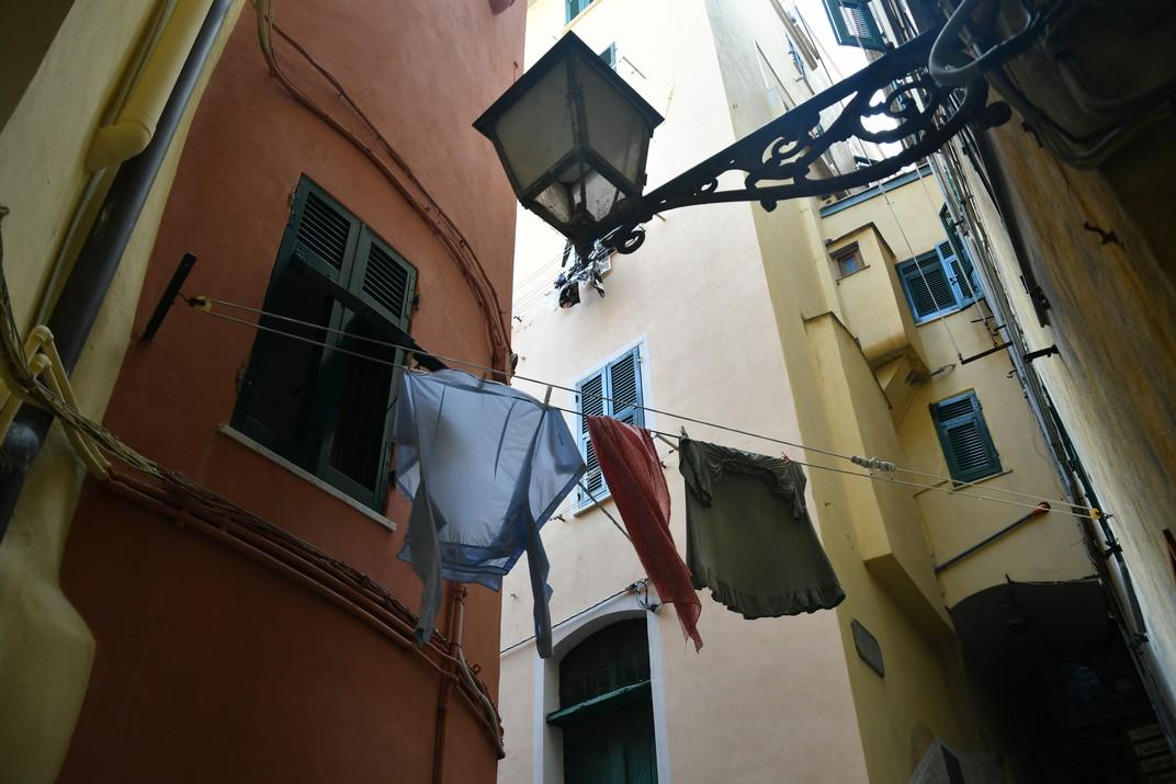 Roba estesa de les cases de Riomaggiore