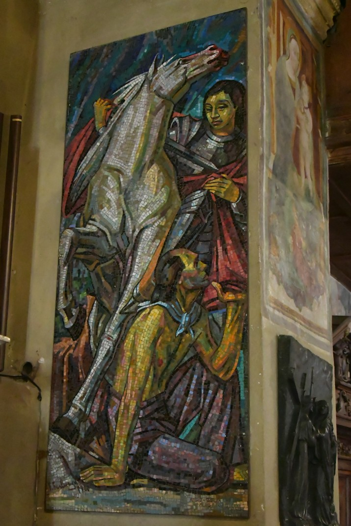 Sant Martí de l'església de Santa Maria Major de Sirmione de Garda