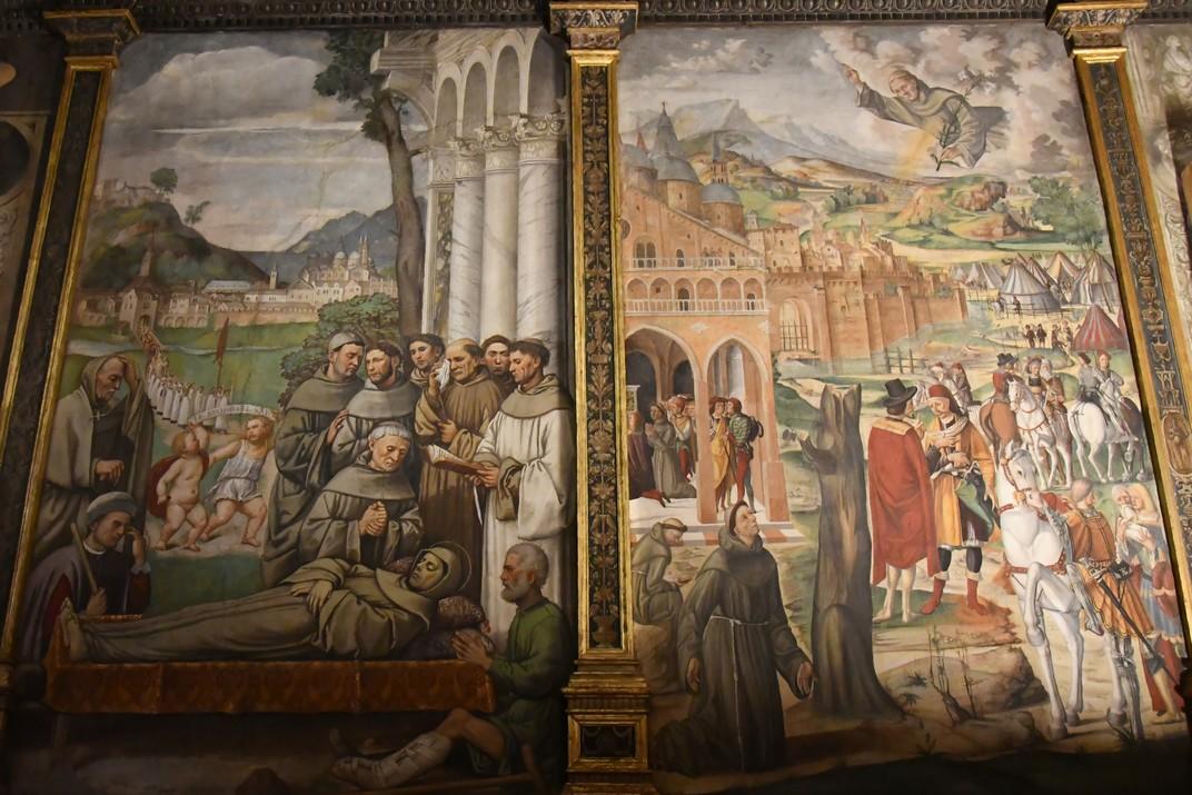 Trànsit i aparició al beat Luca Belludi de Sant Antoni de l'Escola del Sant de Pàdua