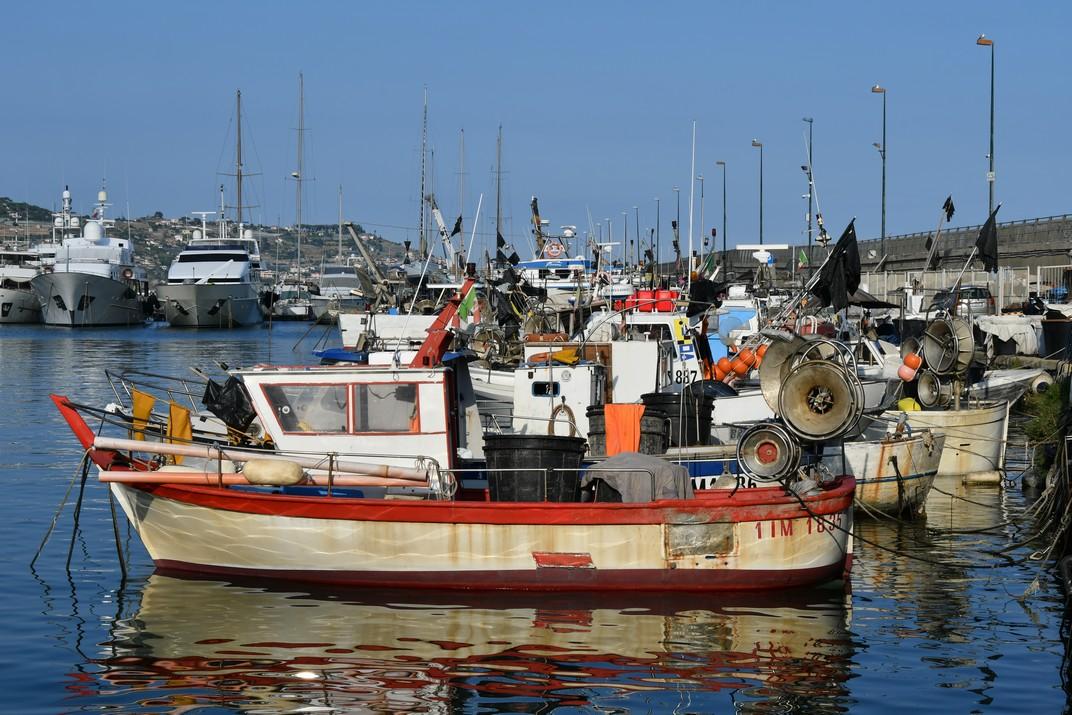Vaixells de pesca del Port Vell de Sanremo