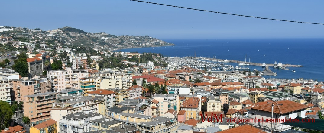 Vista des del Santuari la Madonna della Costa de Sanremo