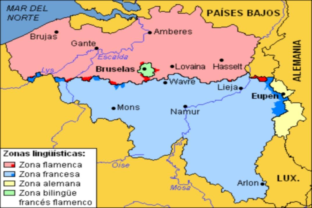 Mapa de Flandes - Ruta per França i Bèlgica