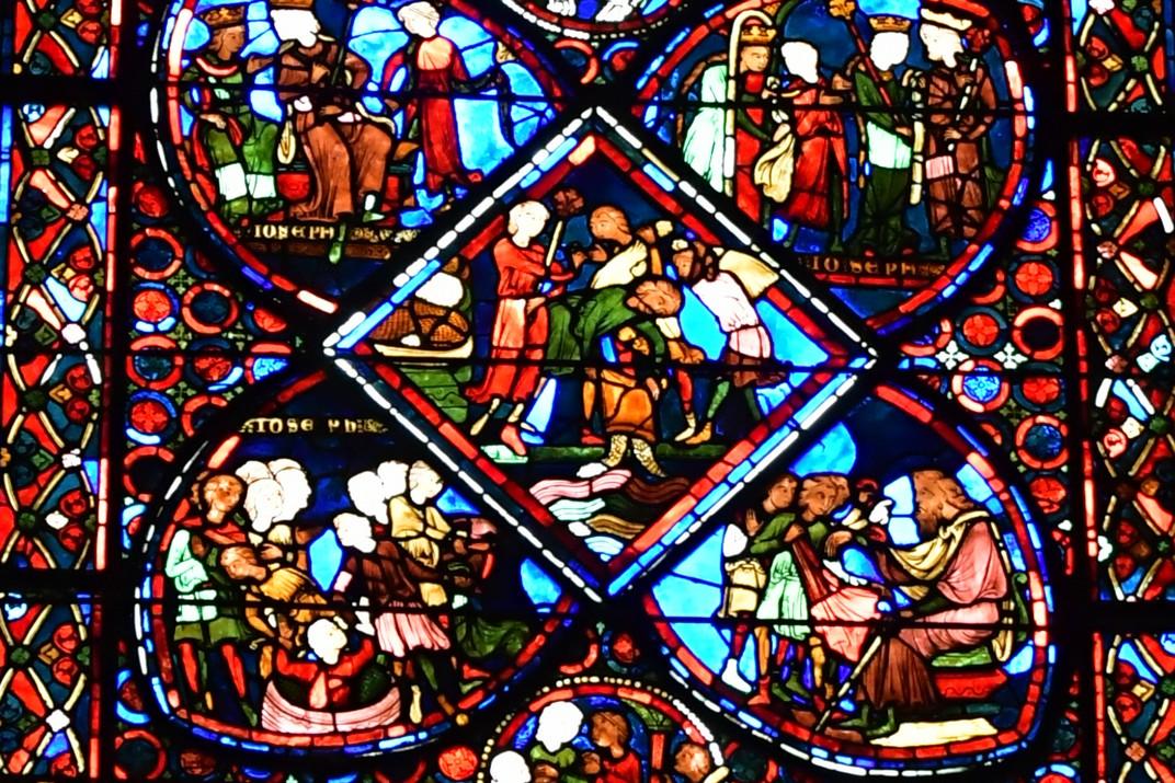 Detall de vitralls de la Catedral de Bourges