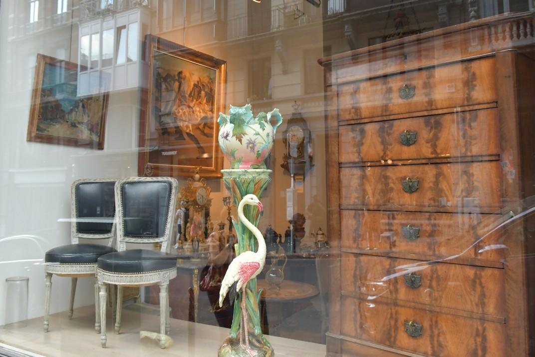 Comerç d'Antiquaris del barri del Sablon de Brussel·les