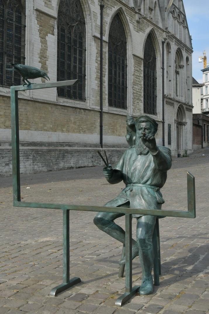 Estàtua de Pieter Bruegel a l'església de Nostra Senyora de la Capella de Brussel·les