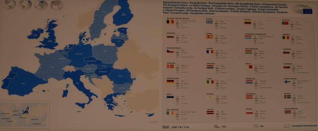 Mapa de la Unió Europea - Brussel·les