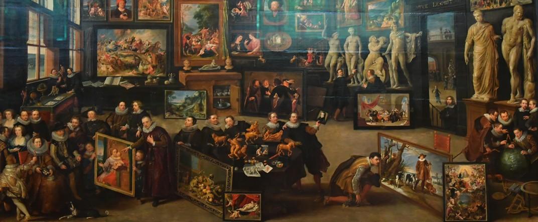 La sala d'art de la Casa de Rubens d'Anvers