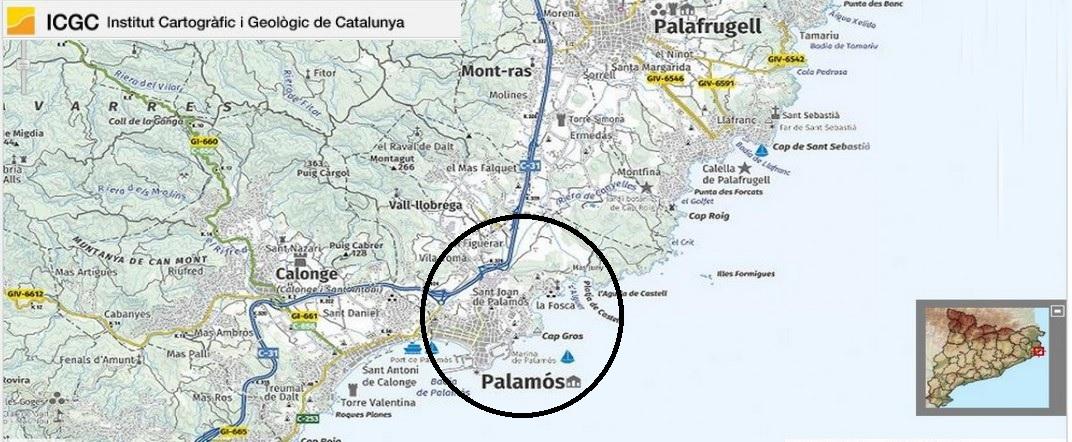 Mapa de localització de Palamós