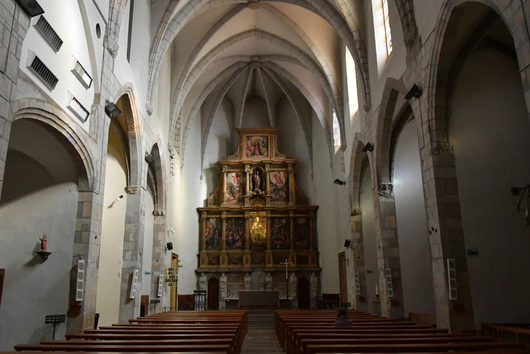 Nau de l'església de Santa Maria de Palamós
