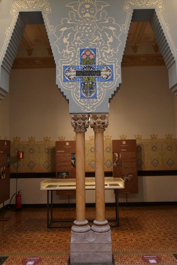 Columnes del vestíbul de la Casa Coll i Regàs de Mataró