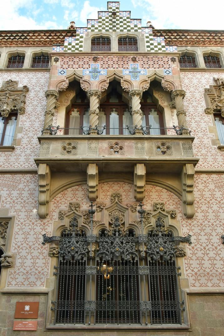Façana de la Casa Coll i Regàs de Mataró