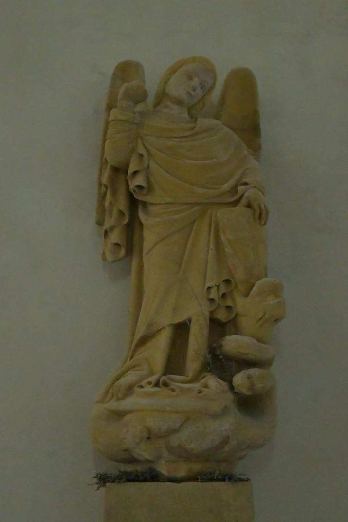 Imatge de l'arcàngel Sant Miquel d'Olèrdola