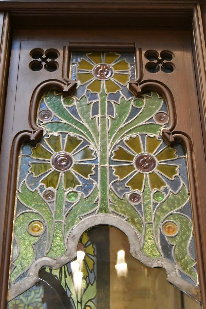 Vidres emplomats de la Casa Coll i Regàs de Mataró