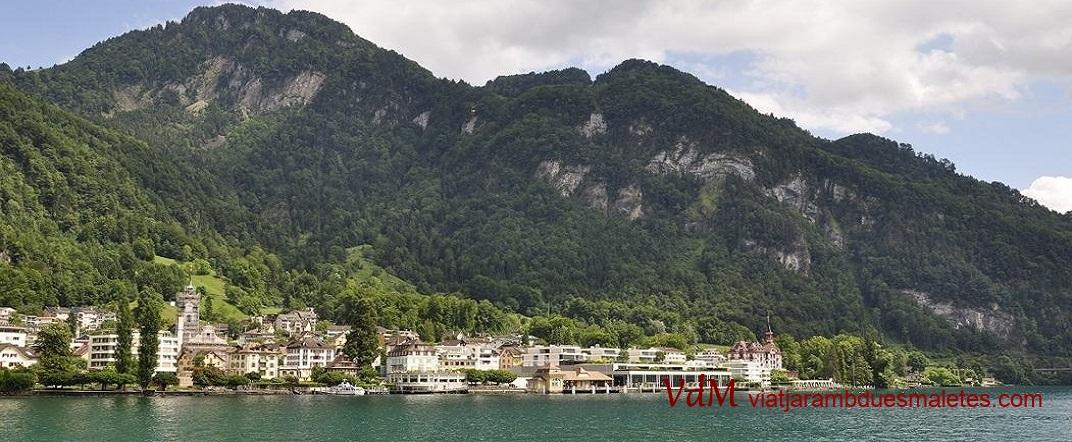 Accés des de Vitznau de la muntanya Rigi