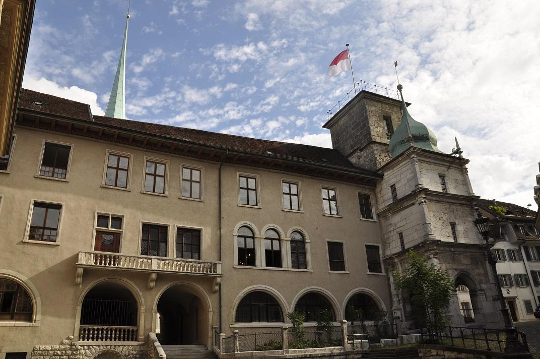 Accés lateral de l'Ajuntament de Solothurn
