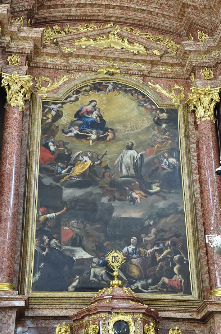 Altar major de l'església dels jesuïtes de Sant Francesc Xavier de Lucerna