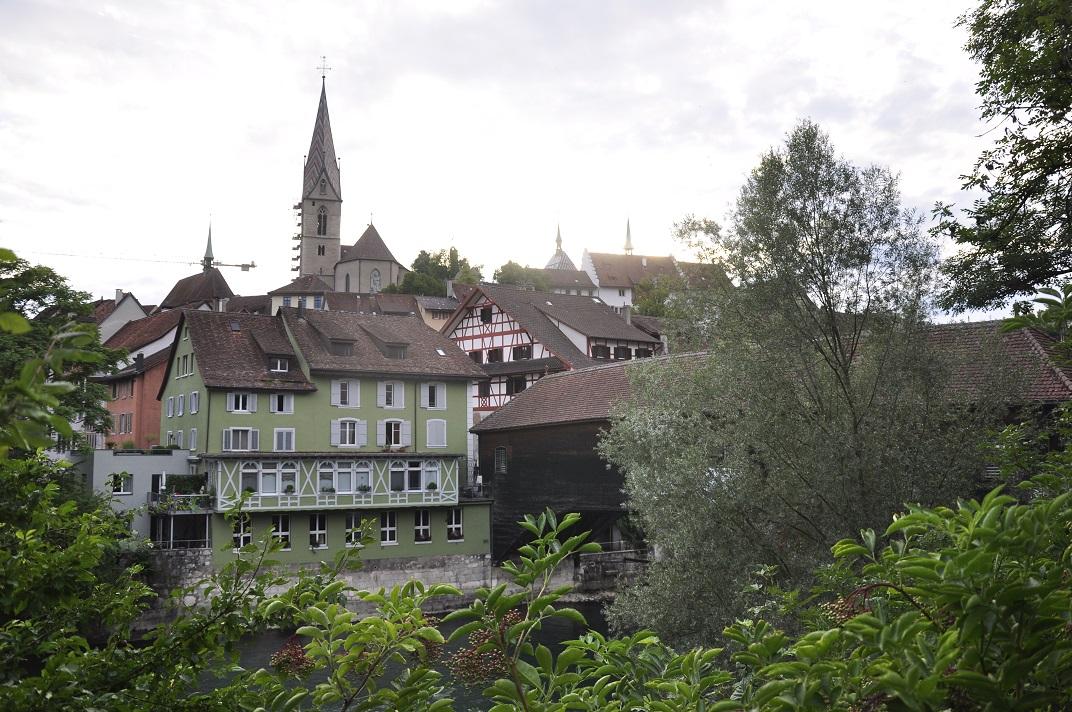 Baden des del pont de fusta