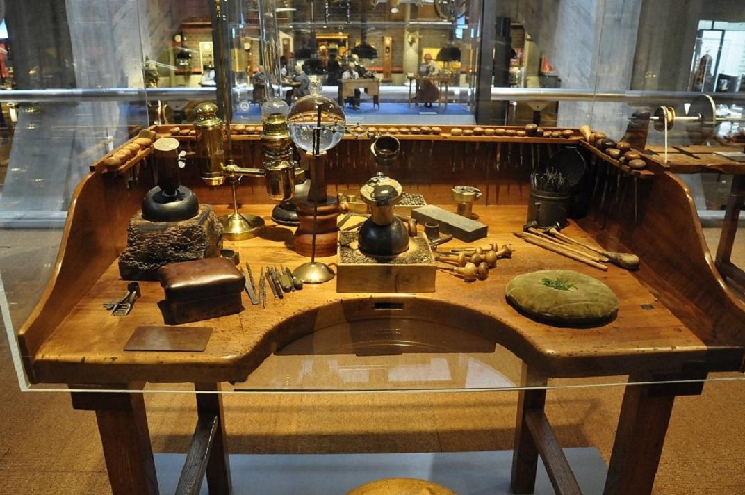 Banc de treball del museu de rellotgeria de La Chaud-de-Fonds