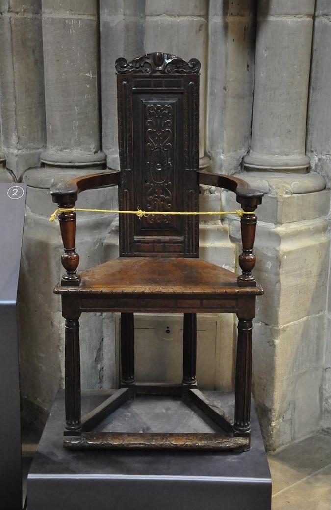 Cadira de Jean Cauvin de la Catedral de Ginebra