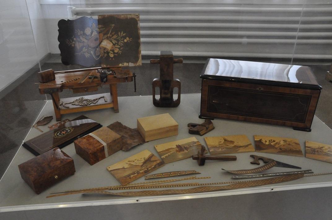 Caixes de música antigues del museu de la Sainte-Croix