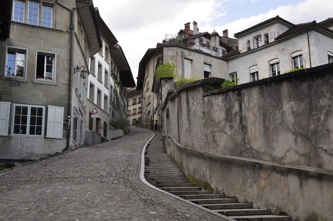 Carrer cap a la Ciutat Baixa de Friburg
