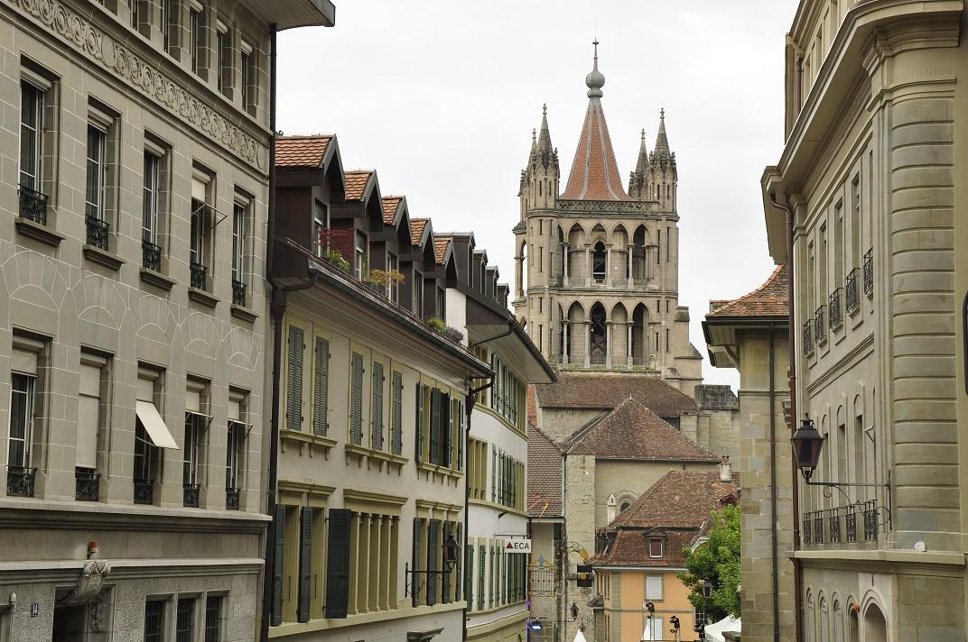 Carrer Cité-Devant del nucli antic de Lausana