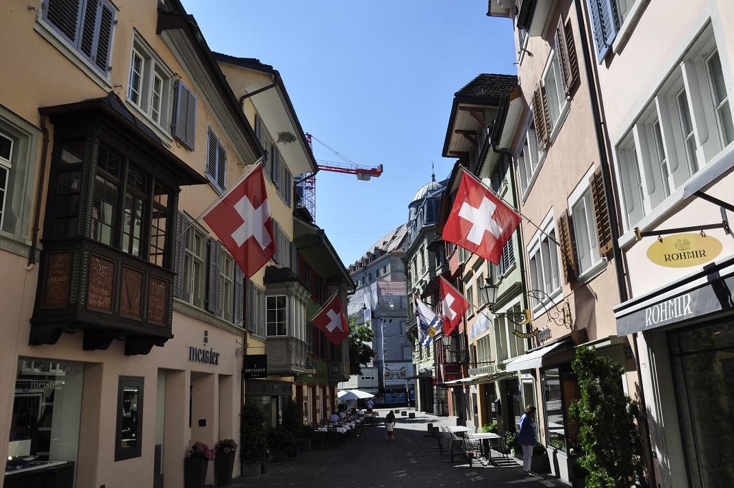 Carrer del barri antic de Zuric