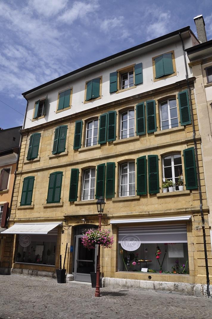 Cases amb porticons de Yverdon-les-Bains