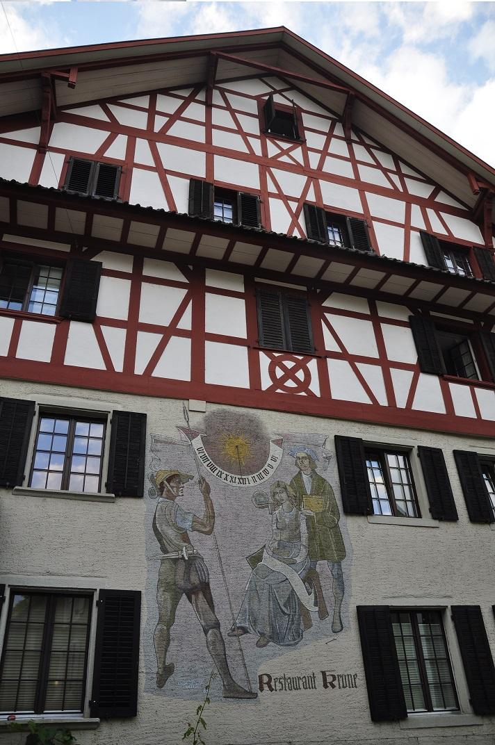 Cases d'entramat de fusta al nucli antic de Baden