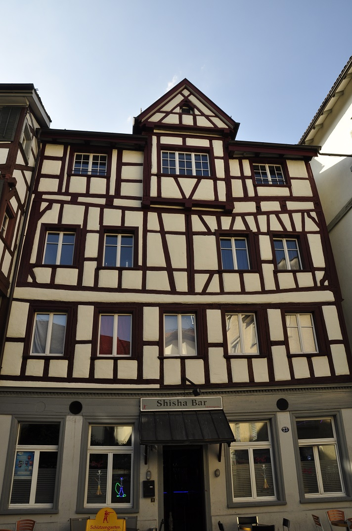 Cases d'entramat de fusta de Sankt Gallen