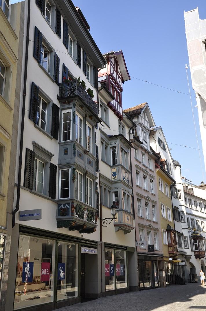 Cases nobles amb miradors de Sankt Gallen