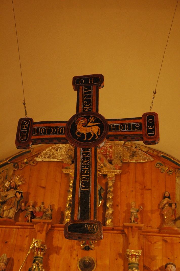 Creu de fusta de l'església de Sant Fèlix de Bagergue