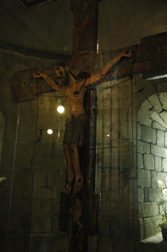 Crist crucificat de l'absis de l'església de Sant Andreu de Salardú