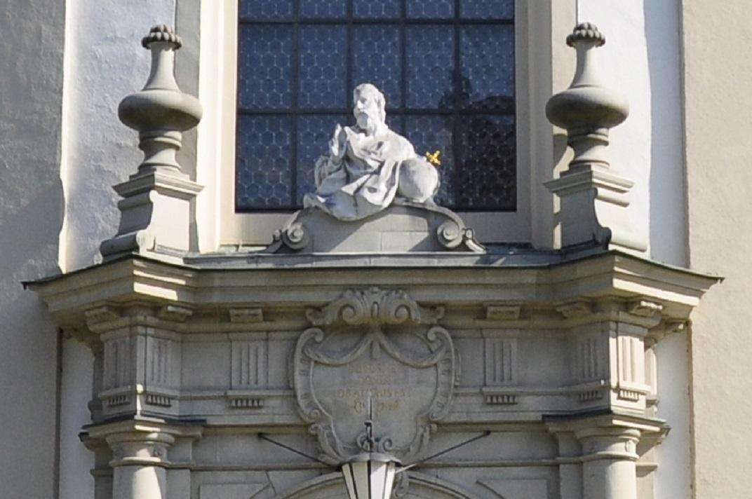 Crist Salvador de la façana principal de la Catedral de Sankt Gallen