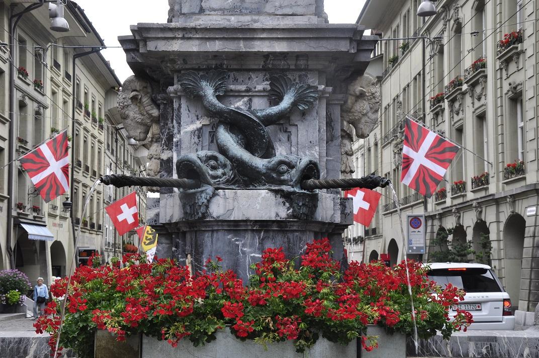 Detall de les fonts de Berna