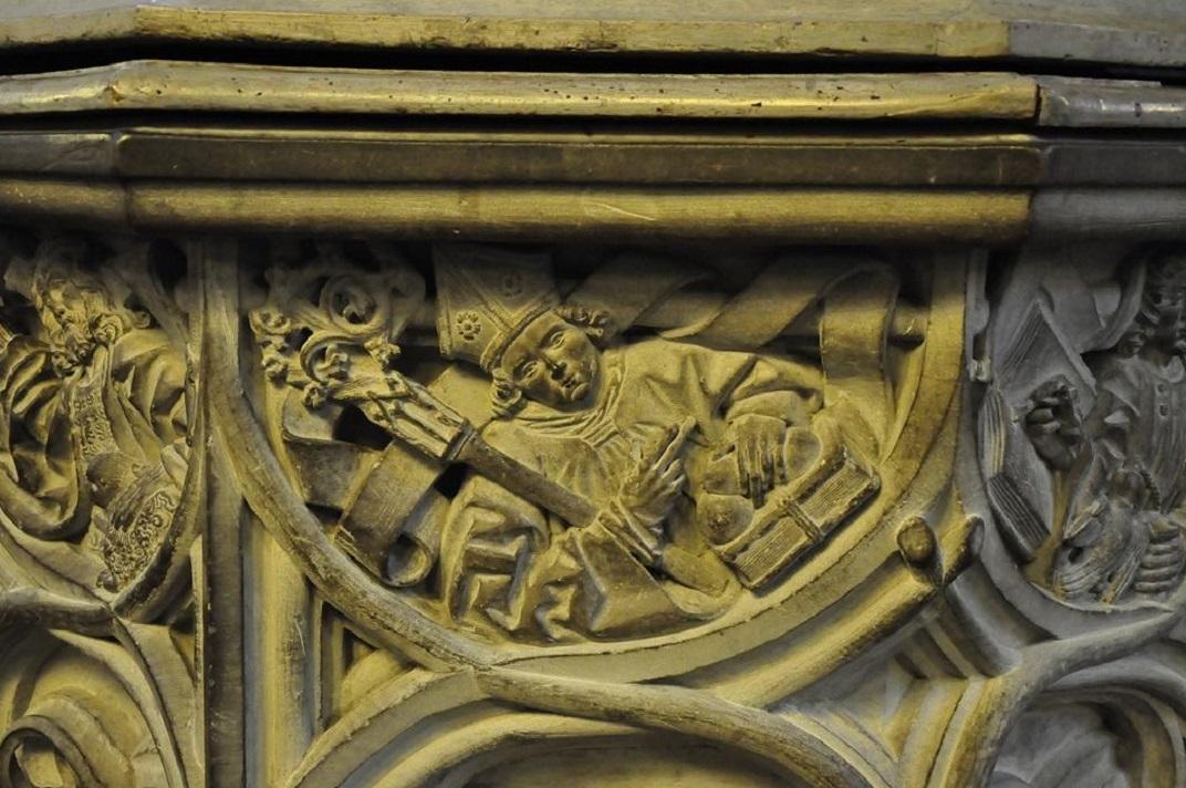 Detall de Sant Nicolau de la Catedral de Friburg