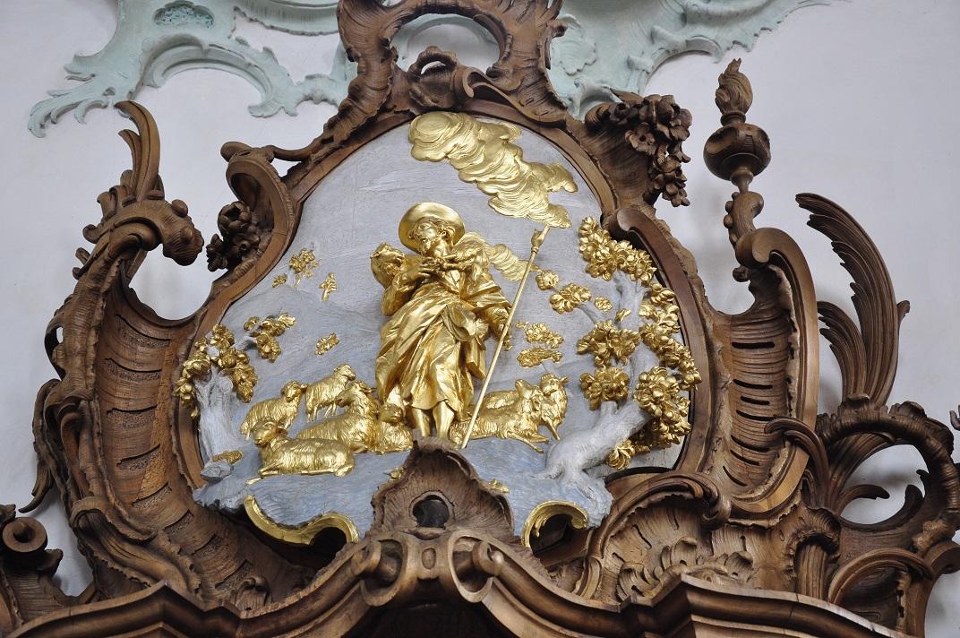 Detall del confessionari de la Catedral de Sankt Gallen
