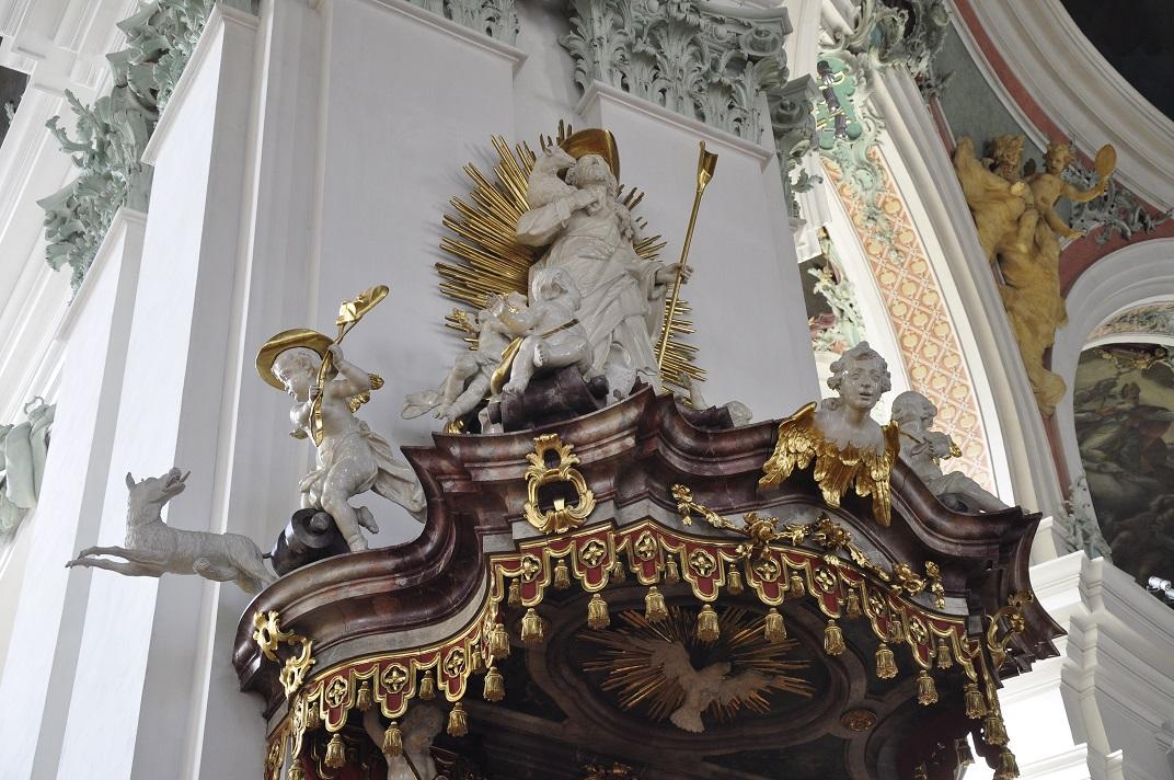 Detall del púlpit de la Catedral de Sankt Gallen