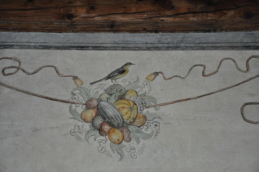 Detall del saló heràldic del castell de Chillon