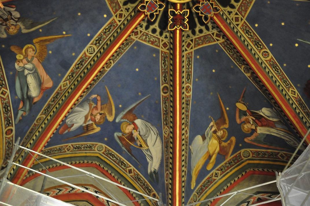 Detall del sostre de la capella dels Macabeus de la Catedral de Ginebra