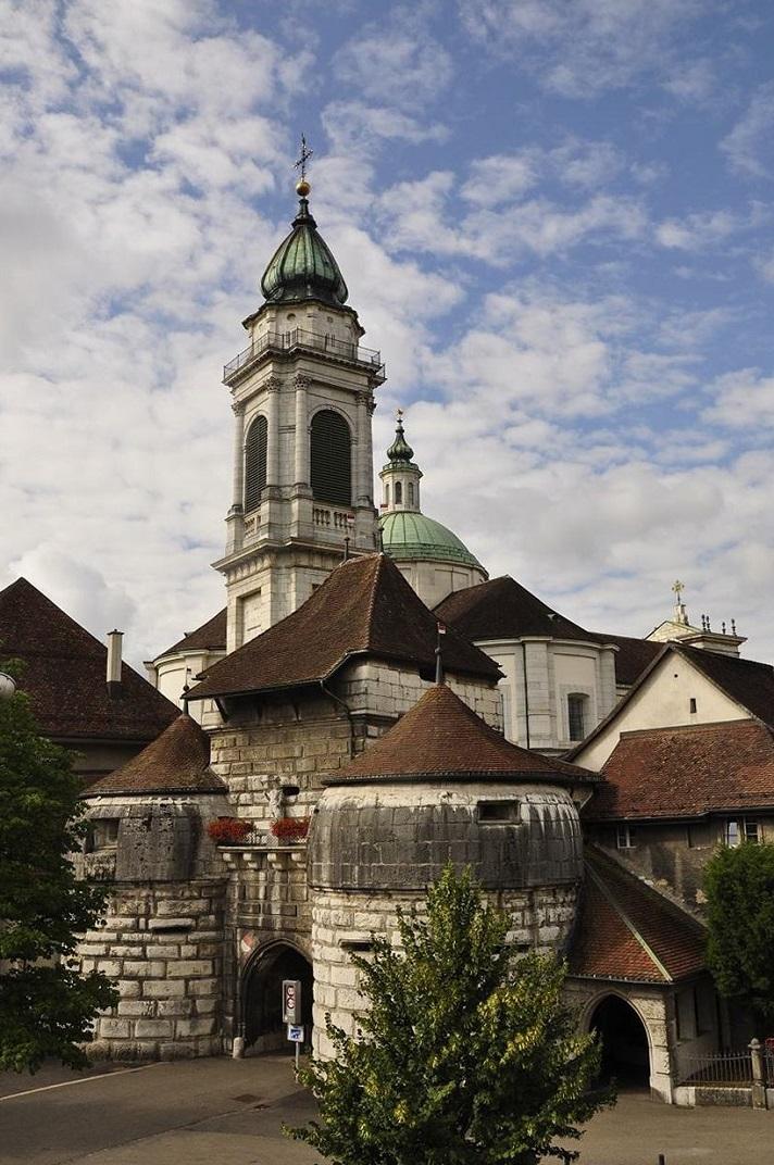 Entrada a la ciutat per la porta de Basilea de Solothurn