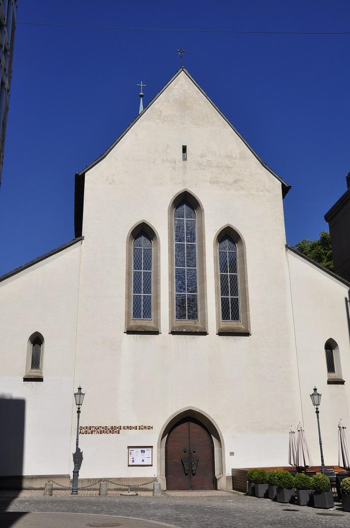 Entrada de l'església dels Agustins de Zuric