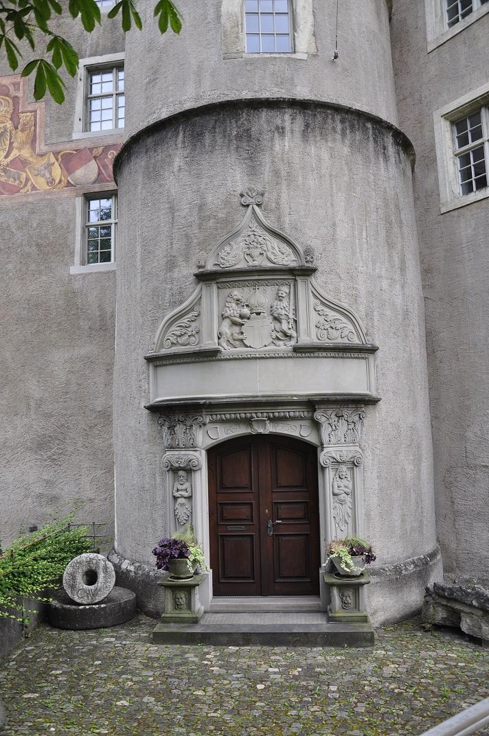 Entrada del castell de Baden